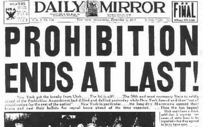 repeal of prohibition headline 1933